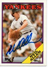 Neil Allen New York Yankees 1988 Topps Signed Card