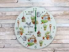 Garden glass wall clock 30cm