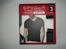 SPYDER Set of 3 Crew Neck Stretch Pro-Cotton T - SHIRTS mens MEDIUM 38 - 40 NEW