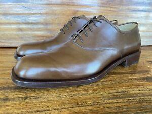 Pristine Mens Salvatore Ferragamo Lace Up Dress Shoes Size 11 D Brown Leather