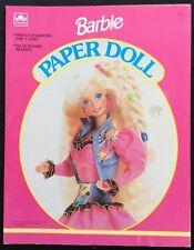 Barbie Puppe Buch, Whitman 1992, Uncut, 4 Seiten Kleidung, Schmuckkästchen