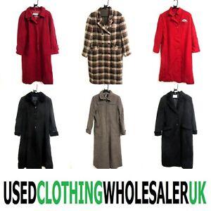 10 WOMEN'S 80's VINTAGE LONG WOOL SMART WINTER COATS WHOLESALE CLOTHING JOBLOT