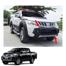Front Bumper Guard Cover Matte Black 1 Pc Fit Mitsubishi L200 Triton 2015 - 2017