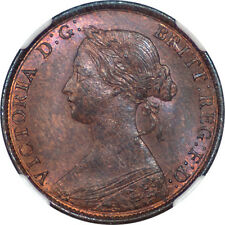Great Britain 1861 Victoria Half Penny Ngc Ms-65 Rb Lcw Signature on the Rock!