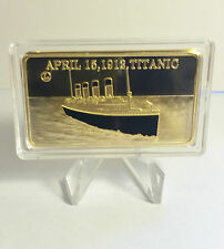 1 Oz Titanic April 15 1912 Memorial Ingot Finished in 999 24 K Gold Ships