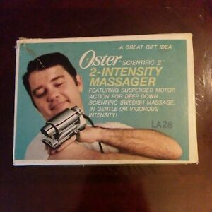 Vintage Oster Scientific II 2 Intensity Electric Massager Original Box TESTED