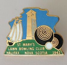 St Marys Lawn Bowling Club Badge Rare Halifax Nova Scotia Canada (K8)