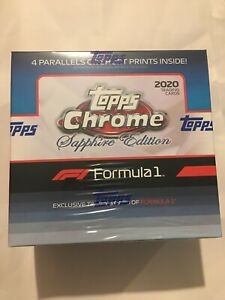 2020 Topps Formula 1 Chrome Sapphire - Online Exclusive - Formula 1 - Full Box