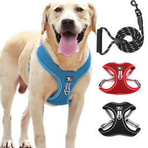 Polyester Reflective Dog Harness Vest with Leash Adjustable For Dog Pets Outdoor