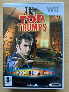 Top Trumps Doctor Who Wii Game Nintendo Videogame Based on TV Series