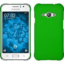 Hardcase Samsung Galaxy J1 ACE rubberized green Cover + protective foils