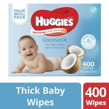 Huggies Coconut Oil Lightly Fragranced 400 Thick Baby Wipes 1 pack