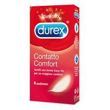 CONFEZIONE 6 PRESERVATIVI CONDOM PROFILATTICI DUREX CONTATTO