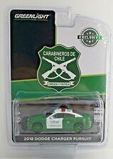 Green Machine 30162 2018 Dodge Charger Carabineros de Chile 1:64 Greenlight