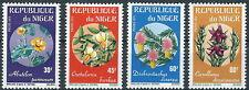 Niger - Geschützte afrikanische Blumen Satz postfrisch 1973 Mi. 365-368