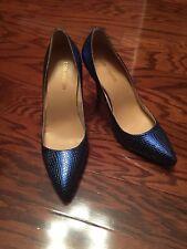 """ShinyBlue Lizard Skin Pointed Toe High Heel 4.5"""" Women's Shoes Classic 8M"""