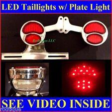 Red LED Custom Taillights w/ Plate Bracket  Ford Stepside Pickup Truck Hot Rod