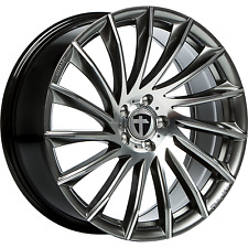 "4x Tomason tn16 10x22"" 5x130 et50 ml71, 6 Dark hyperblack Polished q7 Cayenne VW"