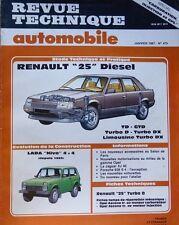 NEUF Revue technique RENAULT 25 DIESEL TD GTD DX RTA 475 1987 LADA NIVA 4X4