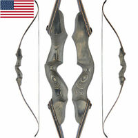 """60"""" Archery Recurve Bow Takedown 35-60lbs Wooden Riser Archery Hunting Shooting"""