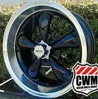 4 17x8 Black Wheels Rims Mags Fit C3 Corvette Wheels Rim Deep Dish 5x4.75