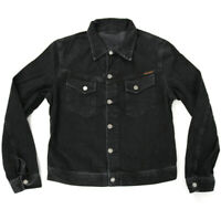 New Nudie Mens Slim Organic Denim Jeans Jacket | Conny Organic Black Stone