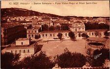 CPA  Séte (Hérault) - Station Balnéaire - Place Victor-Hugo et Mont ... (511043)