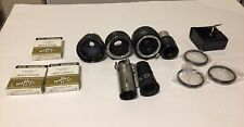 Lot of Vintage assorted Camera Lenses VIVITAR  TELEPHOTO MACRO Kodak Anastigmat