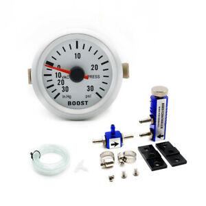 2inch 52mm Pointer PSI Turbo Boost Vacuum Pressure Gauge w/Boost Controller Blue