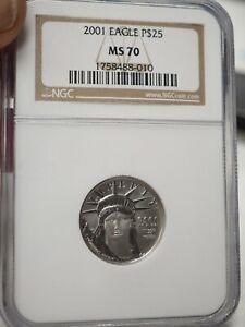 2001 Platinum Eagle $25 NGC MS70 - Statue Liberty 1/4 oz # 8010