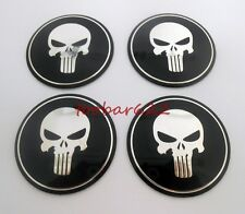56MM Tire Wheel Center Hub Caps Stickers Rims Decals For Punisher 4PCS t5618