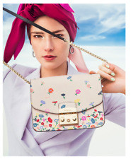 FURLA Metropolis Floral Small Leather Bag Limited Edition MSRP $478