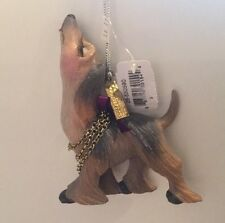 Katherine's Collection Afghan Hound Kissing Dog Puppy Christmas Ornament NEW