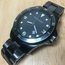 Michael Kors MK-7057 Men Moving Bezel Analog Quartz Watch Hours~Date~New Battery