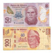 Mexico -  Fifty (50) & One Hundred (100) Pesos