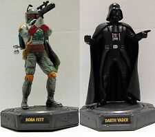 "STAR WARS Hasbro1998 BOBA FETT/DARTH VADER 7"" Turning Base FIGURES rare"