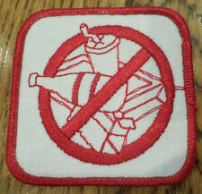 Vintage Girl Scout Uniform Patch Gs No Littering Trash Red And White Don'T