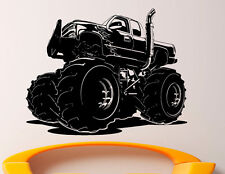 Monster Truck Wall Decal Vinyl Sticker Big Monster Car Interior Art Decor (7bmc)