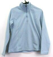Lands' End Women's Small 6-8 Long Sleeve 1/4 Zip Up Fleece Pullover Jacket Blue