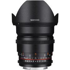 Samyang 16mm T2.2 ED AS UMC CS VDSLR II Lens MK2 CANON EF -3 YR WARRANTY NEW UK