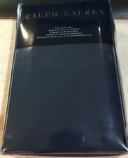 New Ralph Lauren Palmer 464 Thread Count Cotton Percal Full Flat Sheet Navy