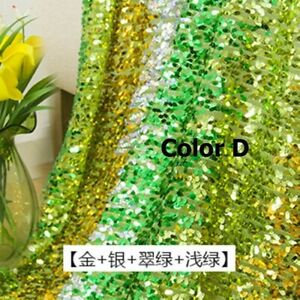 1 Meter Sequin Fabric Sparkly Multicolored DIY Sewing Dance Decor Material Cloth