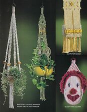 Macrame Ceramic Butterfly Plant Hanger Pattern in Macrame for Moppets Book Mm331