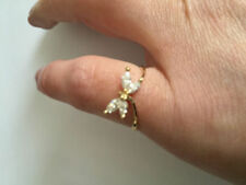Lab-Created Cubic Zirconia Yellow Gold Fine Rings