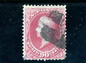 USAstamps Used VF US 1873 National Bank Note Printing Perry Scott 166