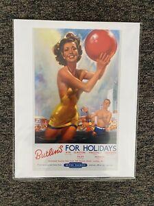Retro Vintage British Railways Travel Poster Print Butlins 14x11 New