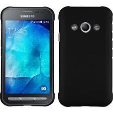 Funda Rígida Samsung Galaxy Xcover 3 - goma negro + protector de pantalla