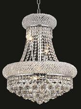 World Capital Bangle 16x20 8 Light Crystal Chandeliers Ceiling light - Chrome