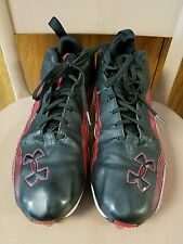 Under Armour Amourbound Golf Athletic Shoes Mens Red Black 12 Cleats