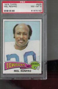 # 428  MEL  RENFRO    1975  topps  PSA  8  COWBOYS